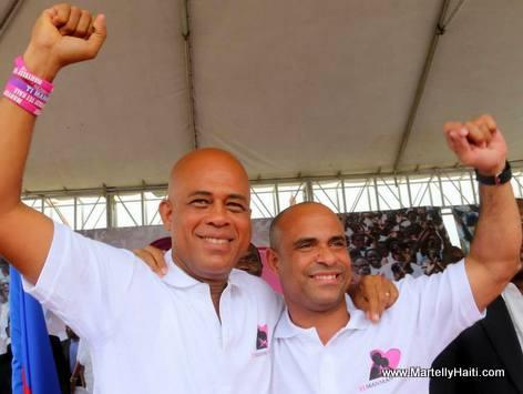 Haiti - President Martelly ak PM Laurent Lamothe ap celebre 2 lane Ti Manman Cheri