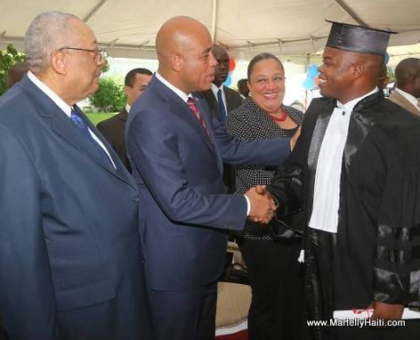 President Martelly - Graduation of 39 Student Judges in Haiti