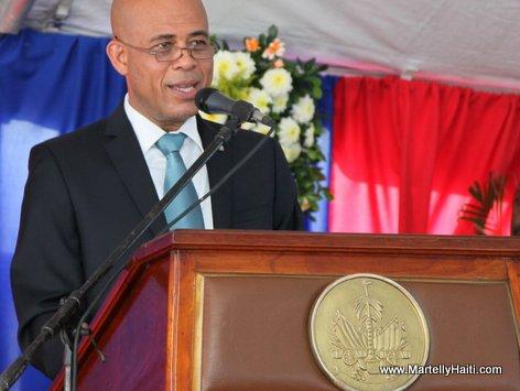 President Michel Martelly au cours de son discours de circonstance