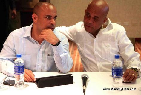 PM Laurent Lamothe ak President Martelly nan rankont ak Senatè yo Mardi 3 Juin 2014