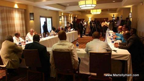 Gouvenman Martelly-Lamothe la rankontre avek Senate yo Mardi 3 Juin 2014