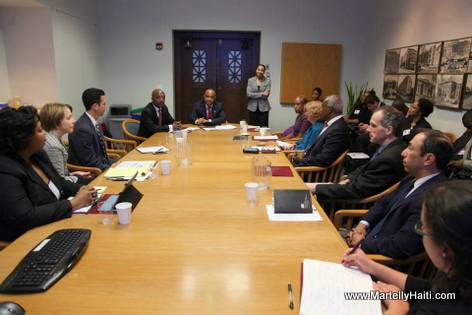 PHOTO: Haiti Prime Minister Laurent Lamothe Visit to Boston (USA)