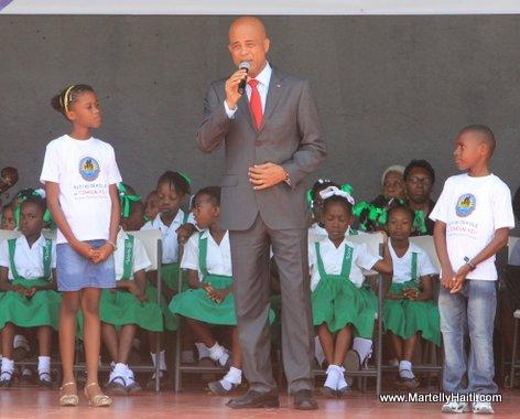 President Michel Martelly dans son discours de circonstance