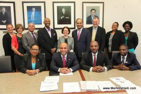 PHOTO: Haiti Prime Minister Laurent Lamothe Visit to Boston (USA)