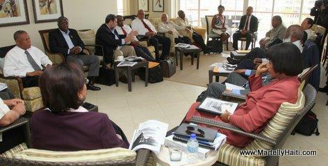President Michel Martelly dans une session en huis clos avec ses homologues de la Caricom