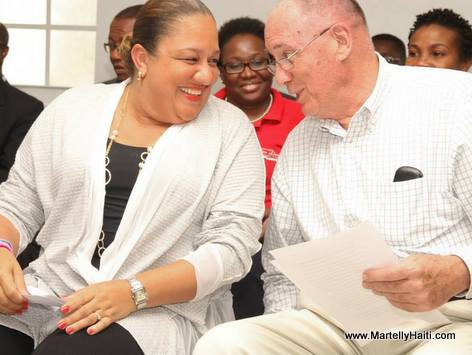 Sophia Martelly and Dr David Butler, Chairman of the CRUDEM Foundation