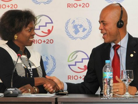 President Michel Martelly et Ertharin Cousin, Directrice executive du PAM