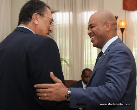 President Michel Martelly et Kenny D. Anthony, Premier Ministre de Sainte-Lucie. Anthony