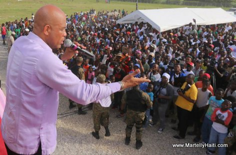 President Martelly - Inauguration Centre Sportif et Socio-culturel des Cayes