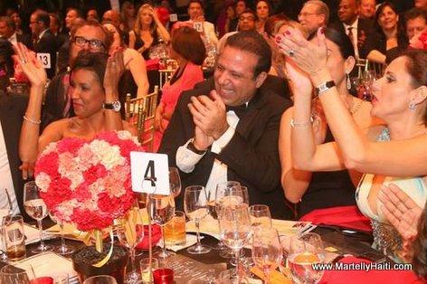 Haiti President Martelly at Happy Hearts Fund Gala