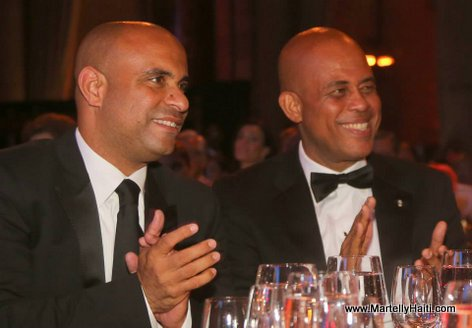 Haiti President Martelly at Happy Hearts Fund Gala
