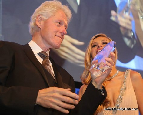 Former US President Bill Clinton at Happy Hearts Fund Gala where President Michel Martelly received an award