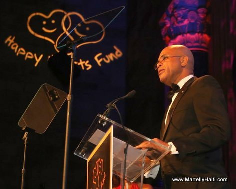 Haiti President Martelly at Happy Hearts Fund Gala in New York