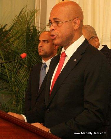 President Michel Martelly et Premiere Ministre Laurent Lamothe. Michel Joseph Martelly