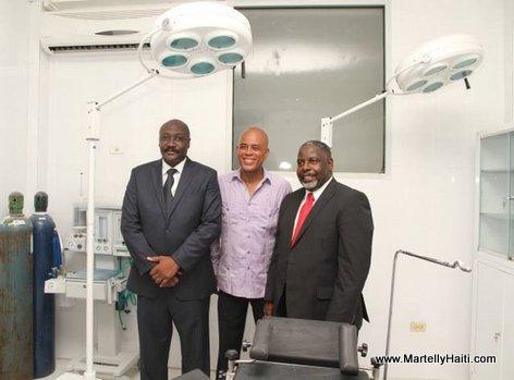 President Martelly - Inauguration Hopital OFATMA des Cayes Haiti