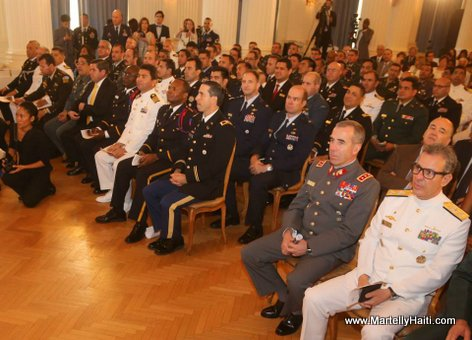 President Martelly - ceremonie remise de diplomes College Interamericain de Defense (CID))