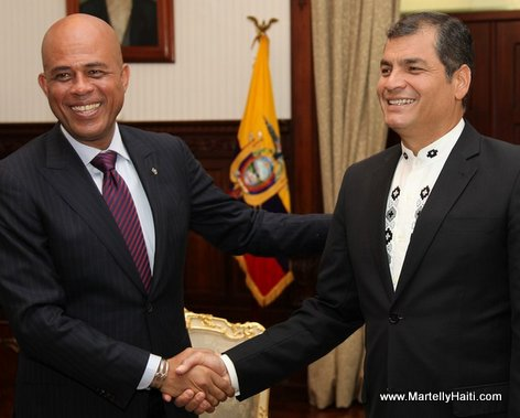 President Michel Martelly et Rafael Correa, President de l'Equateur