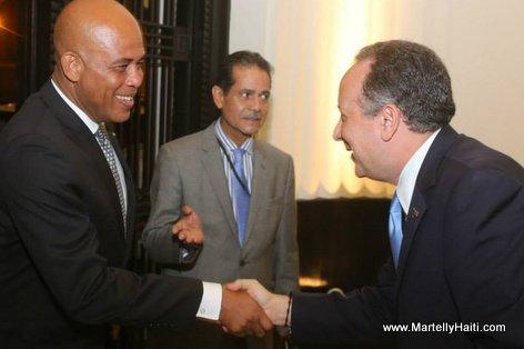 Haiti President Martelly - Visite au Panama