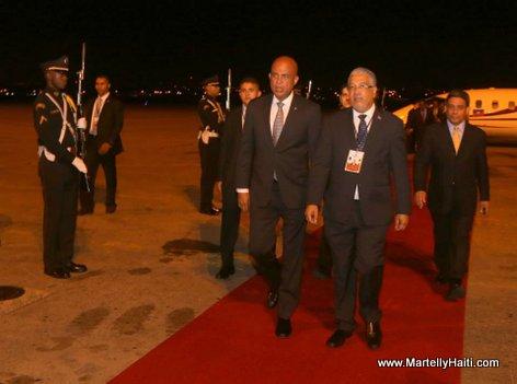 President Martelly arrive au Panama