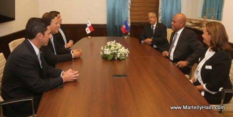 Rencontre - President Michel Martelly et Juan Carlos Varela, le nouveau President elu du Panama