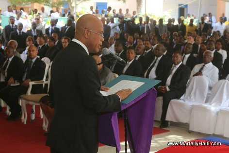 President Michel Martelly - Funerailles nationale Leslie Manigat