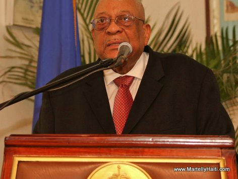 Haiti - Anel Alexis Joseph, President CSPJ - Installation Wendelle Coq au CSPJ