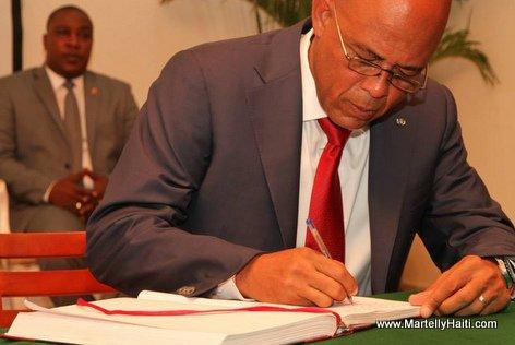 President Michel Martelly - Installation Wendelle Coq au CSPJ