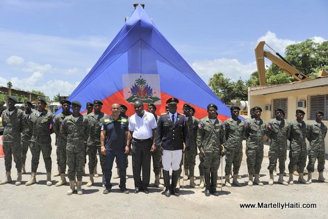 PHOTO: Haiti PM Laurent Lamothe visits the Army Corps of Engineers in Petite Riviere
