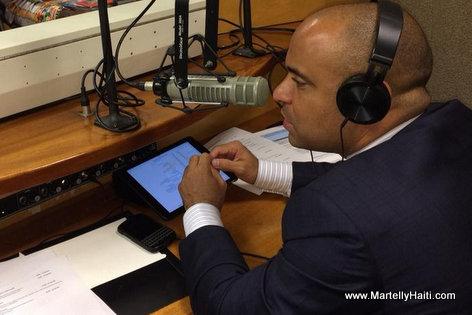 PHOTO: Haiti PM Laurent Lamothe nan Radio Miami - Gouvenman Lakay ou