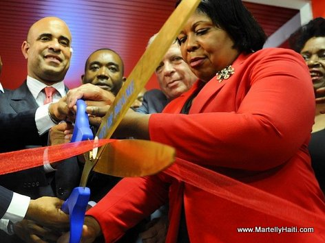 PHOTO: Haiti PM Laurent Lamothe - Inauguration Caribbean Marketplace, LittleHaiti, Miami FL