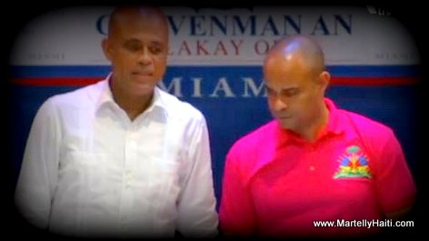 PHOTO: President Martelly, Laurent Lamothe - Gouvenman Lakay ou Miami