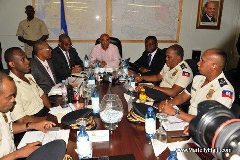 Haiti - Premier Minis Laurent Lamonthe rankontre ak Otorite la Polis